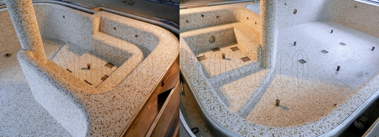 Appiani mosaico di vetro e marmo - Smalto per vasca da bagno prezzi ...