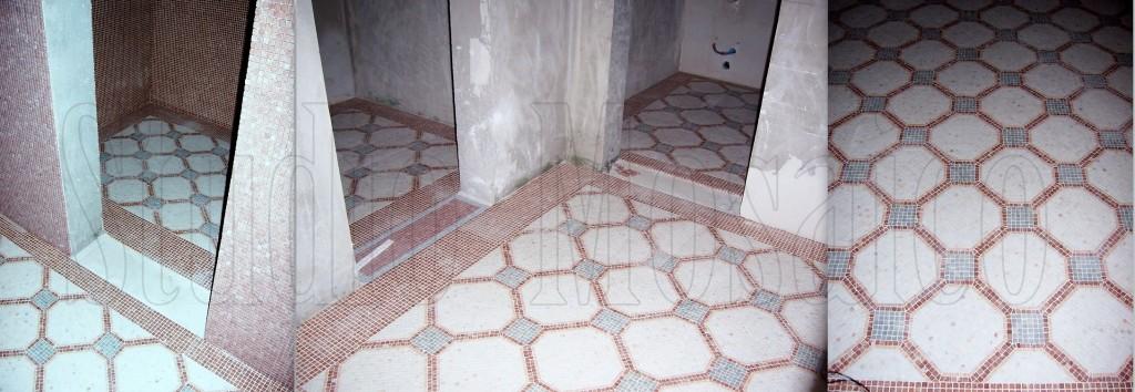 Pavimento e rivestimento mosaico di marmo con motivo for Pavimento con mosaico
