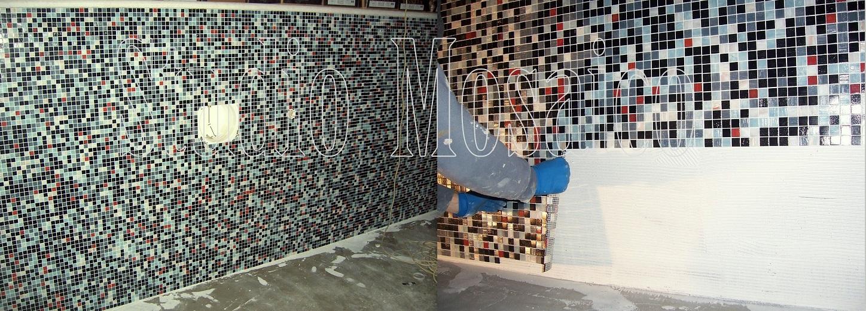 Piscina mosaico miscela personalizzata mosaico di vetro for Mosaico bisazza prezzi