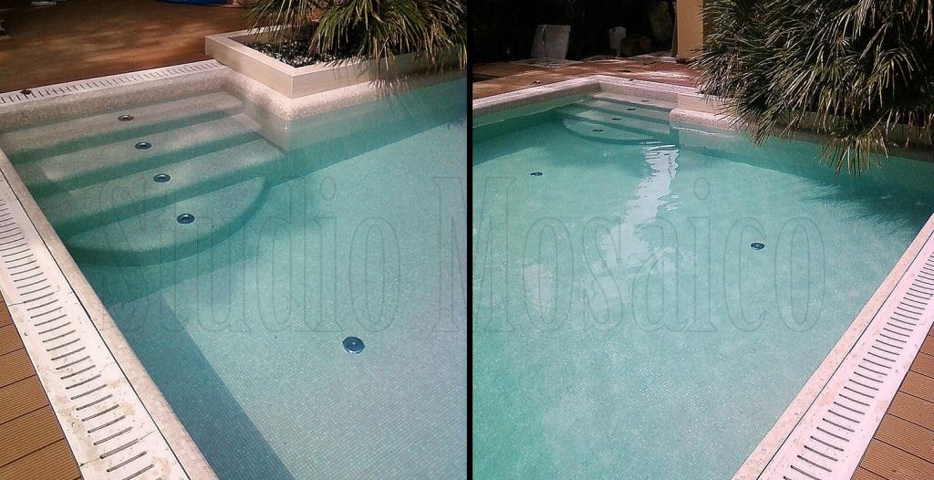 Rivestimento piscina con mosaici sicis - Piscina in vetro ...